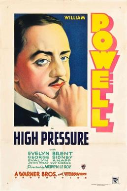 High Pressure starring William Powell - movie poster
