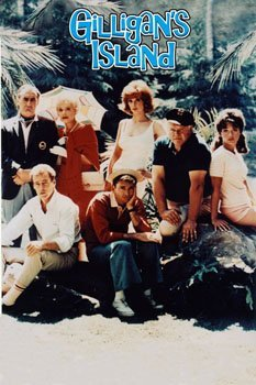 Color poster of the cast of Gilligan's Island - I love the glum expressions