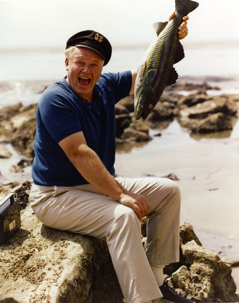 Alan Hale Jr. as the Skipper in a color publicity photo