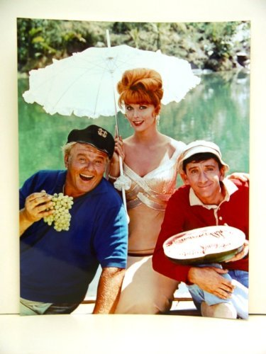 Skipper, Ginger, and Gilligan in a color publicity