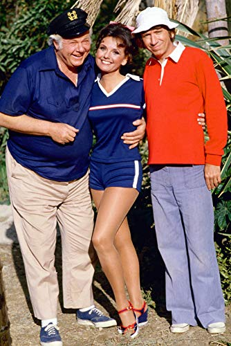 The Skipper, Mary Ann, and Gilligan - color poster