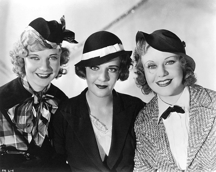 Una Merkel, Ruby Keeler, and Ginger Rogers in 42nd Street