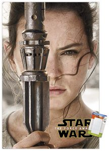 Rey, the protagonist from The Force Awakens