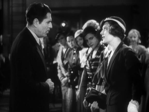 Warner Baxter yelling at Ruby Keeler in 42nd Street