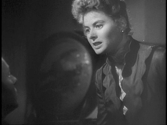Charles Boyer and Ingrid Bergman in the final confrontation