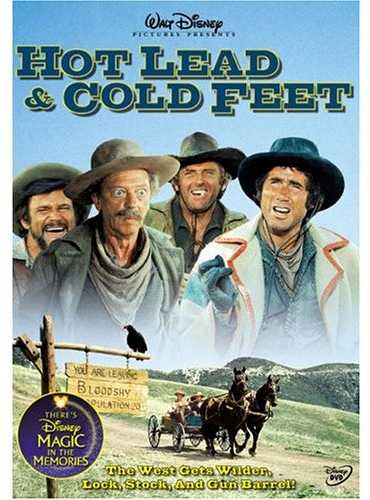Walt Disney Pictures Preseents Hot Lead & Cold Feet - The West Gets Wilder, lock, stock and gun barrel - Jim Dale, Karen Valentine, Don Knotts, Jack Elam, Darren McGavin