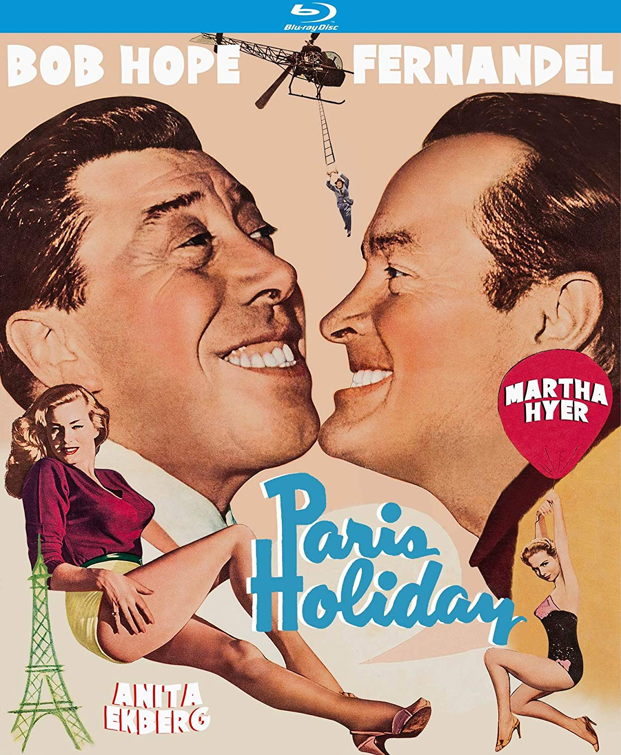 Paris Holiday (1958) starring Bob Hope, Martha Hyer, Anita Eckberg, Fernydel, Preston Sturges