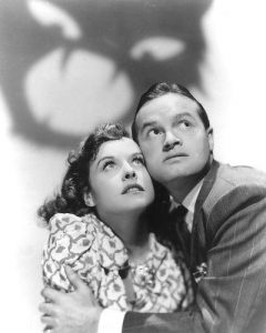 Paulette Goddard and Bob Hope in a publicity photo for The Ghost Breakers