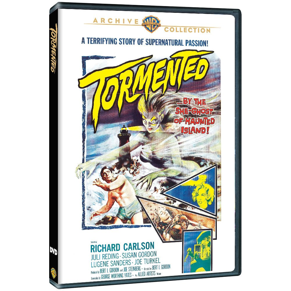 Tormented - by the she-ghost of haunted island! Tormented (1960) starring Richard Carlson, Lugene Sanders, Juli Reding