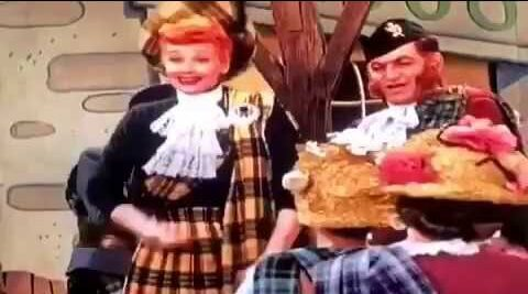 Song lyrics to A McGillicuddy is Here from the I Love Lucy episode, Lucy Goes to Scotland, performed by Lucille Ball, Larry Orenstein, townspeople
