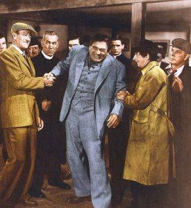 Good grip - handshaking contest between John Wayne and Victor McLaglan in The Quiet Man