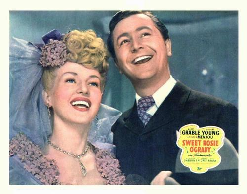 Betty Grable and Robert Young in Sweet Rosie O'Grady