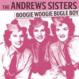 Song lyrics to Boogie Woogie Bugle Boy, Lyrics by Don Raye, Music by Hugh Prince, performed by the Andrews Sisters in Buck Privates