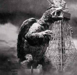 Gamera on a rampage