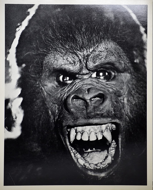 Close up of Rick Baker's King Kong face