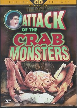 Attack of the Crab Monsters (1956) starring Russell Johnson, Richard Garland, Mel Welles - directed by Roger Corman