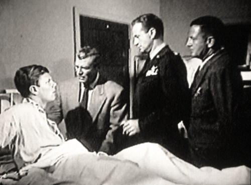 Peter Graves in the hospital, trying to recall what happened to him