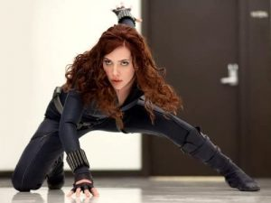 Scarlett Johansson as the Black Widow, introduced in Iron Man 2