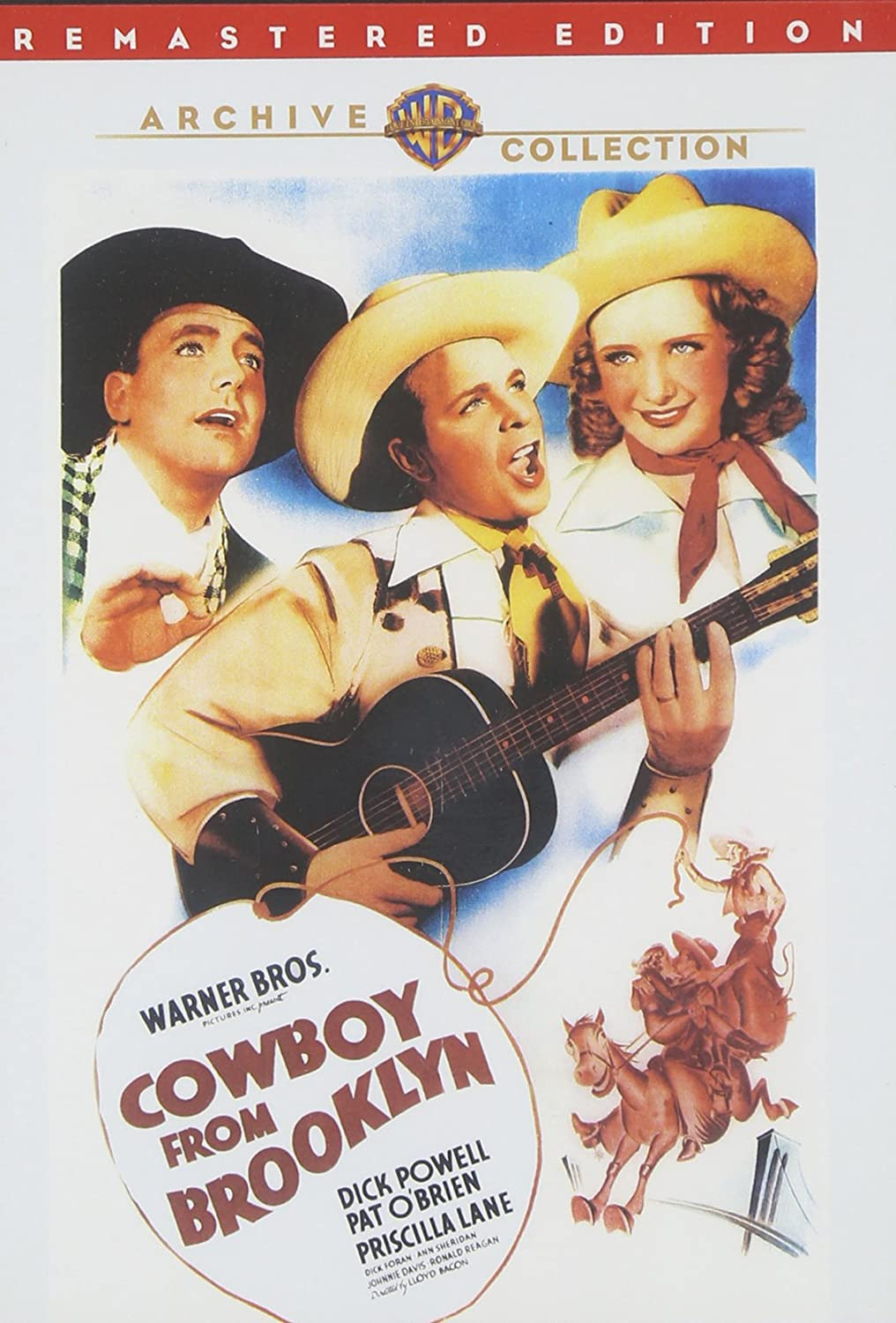 Cowboy From Brooklyn (1938) starring Dick Powell, Pat O'Brien, Priscilla Lane, Ann Sheridan, Ronald Reagan