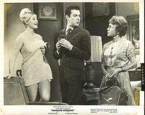 German fiancee, Tony Curtis, and Thelma Ritter in Boeing Boeing