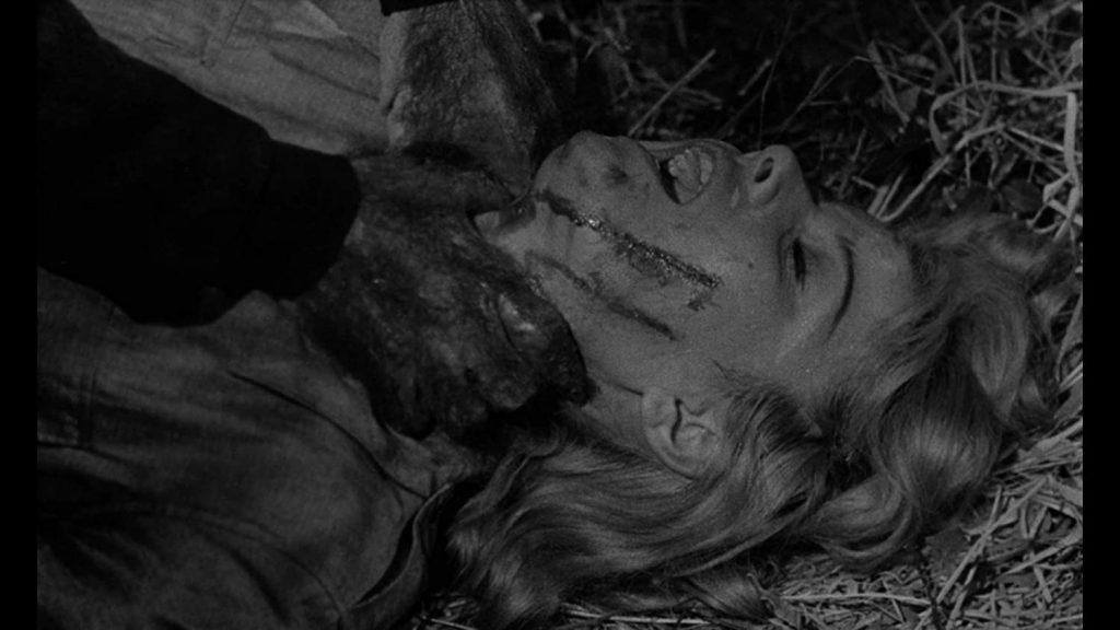 Reform school girl being murdered in Werewolf in a Girl's Dormitory