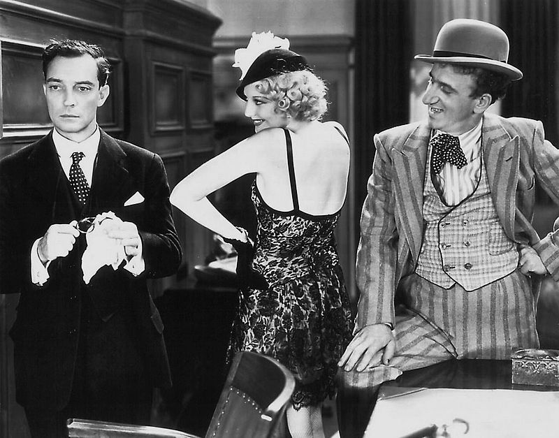 Buster Keaton, Thelma Todd, and Jimmy Durante - three very funny people