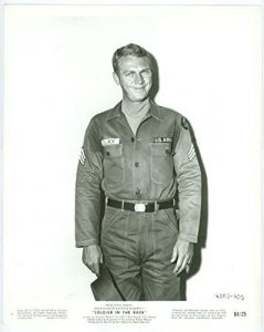 Steve McQueen as the young, scheming solder in Soldier in the Rain