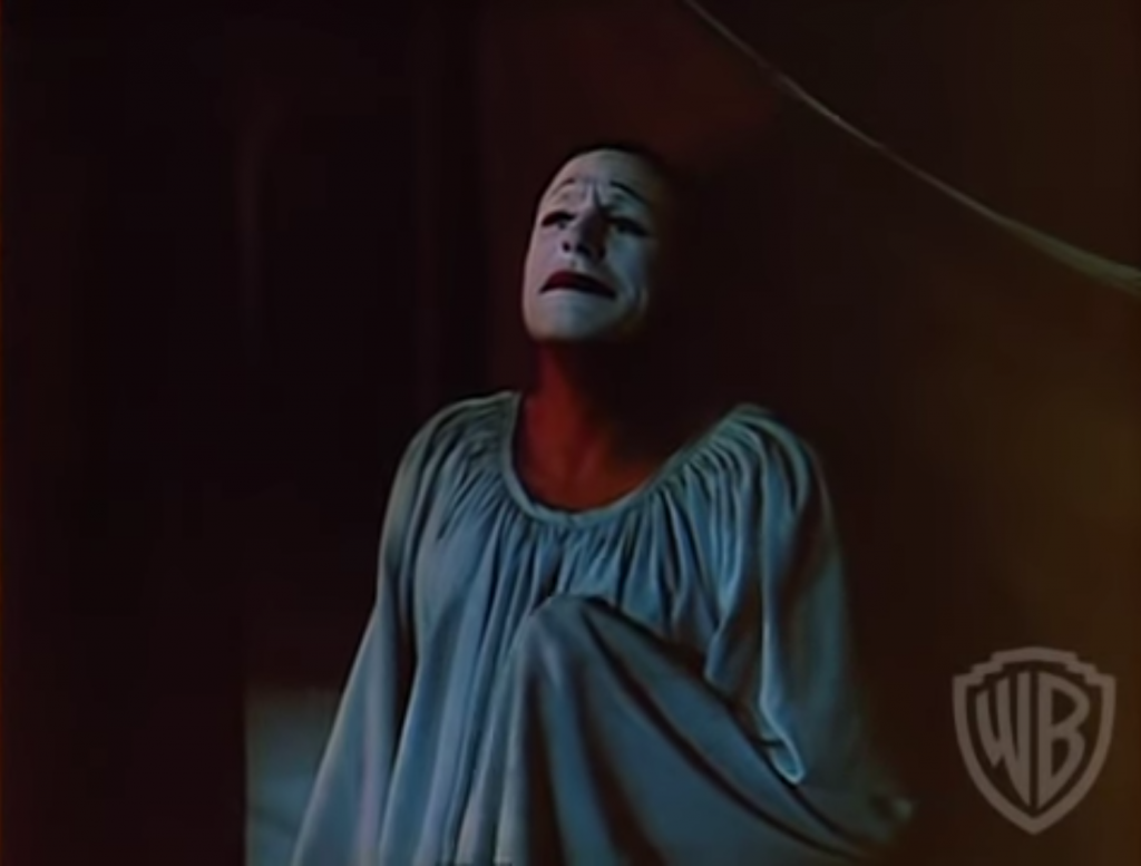Circus - Gene Kelly as the white face clown, in love with another performer, who meets a tragic end in Invitation to the Dance