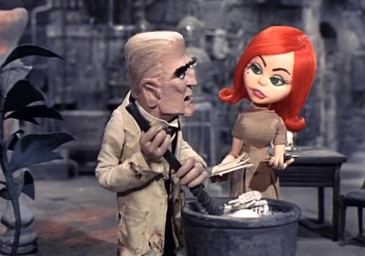 Baron Doctor Boris von Frankenstein with Francesa in Mad Monster Party