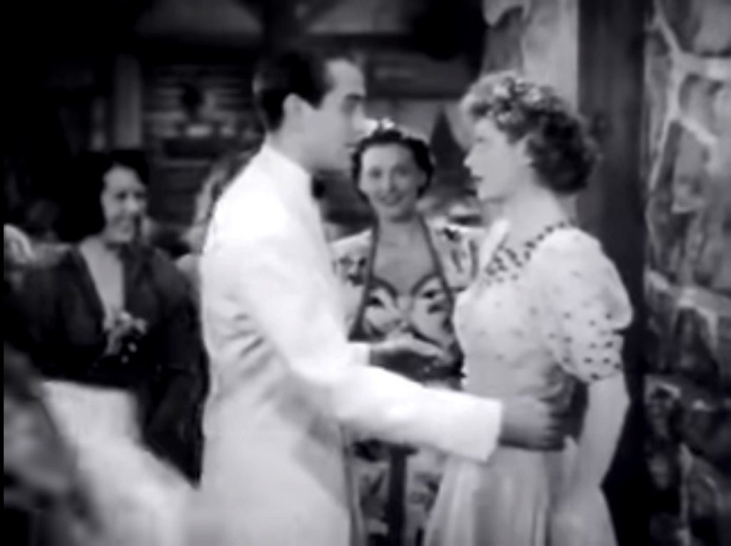 """Lee Bowman and Lucille Ball in """"Having Wonderful Time"""""""