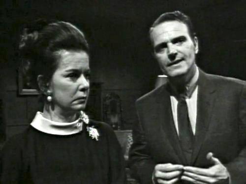 Dark Shadows season 2 episode 244 - Elizabeth Collins Stofddard and Jason McGuire - the unhappy couple