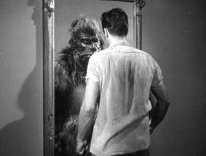 Barney Chavez looks into the mirror, and sees a gorilla staring back