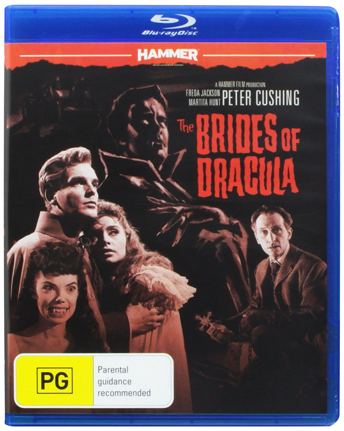The Brides of Dracula (1960) starring Peter Cushing, David Peel, Martita Hunt, Yvonne Monlaur
