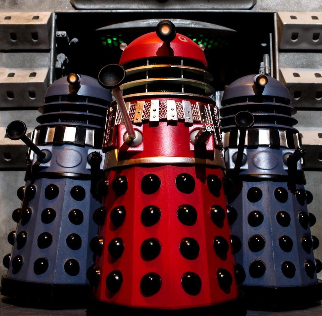 The Daleks - the murderous, war mongering villains in Dr Who and the Daleks