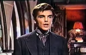 David Peel as Baron Meinster, the villainous vampire in The Brides of Dracula
