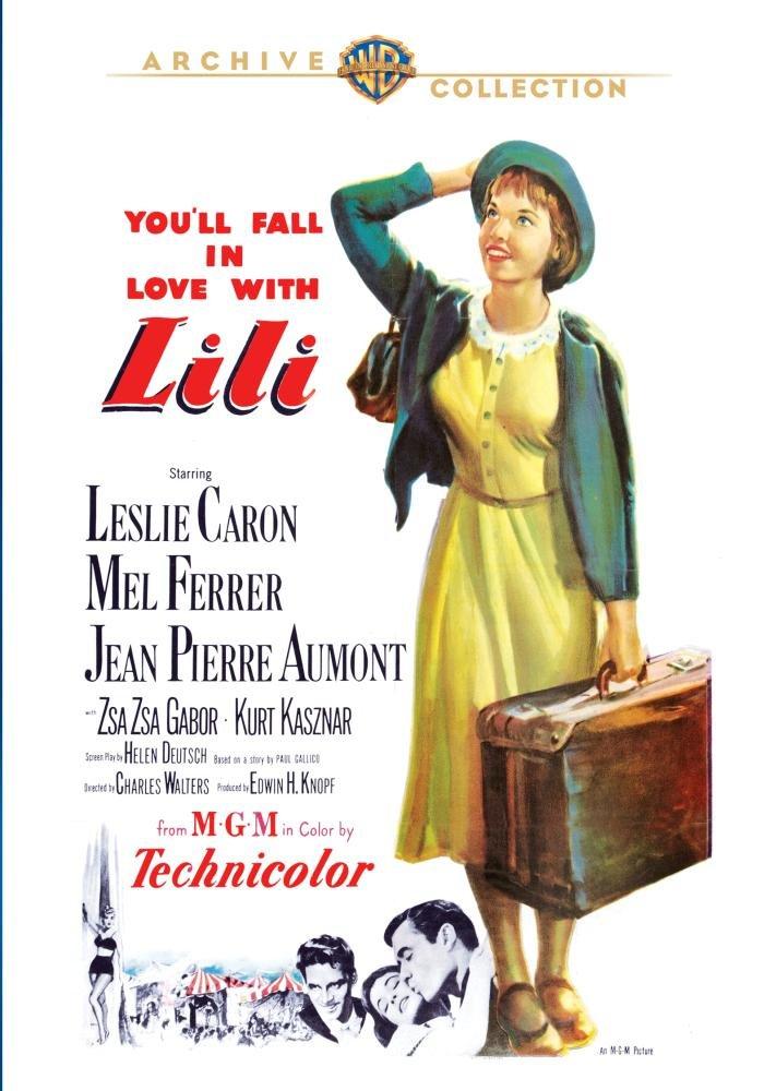 Lili (1953), starring Leslie Caron, Mel Ferrer, Jean-Pierre Aumont, Zsa Zsa Gabor, Kurt Kasznar