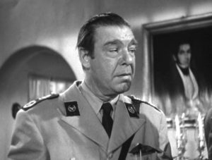 Lon Chaney Jr. as the police inspector in Bride of the Gorilla