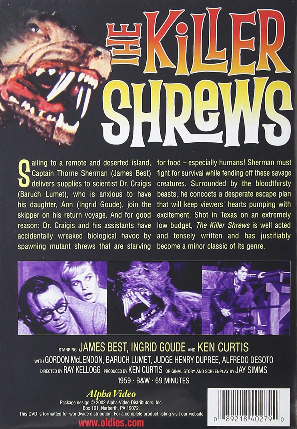 The Killer Shrews (1959) starring James Best, Ken Curtis