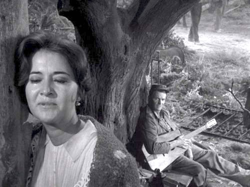The Passerby - JOn the road home from the Civil War, a Confederate soldier stops at a burned-out house and gets to know the owner, a recent widow. The Twilight Zone season 3