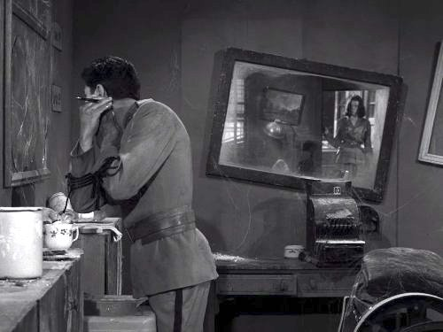 Two - A man and a woman, on opposite sides of a future war, encounter each other in a deserted town. The Twilight Zone season 3