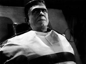 Bela Lugosi as Frankenstein's monster in Frankenstein Meets the Wolf Man