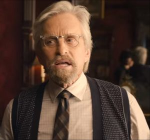 Michael Douglas as Hank Pym, the original Ant-Man