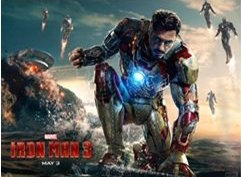 Robert Downey Jr. as the title character in Iron Man 3
