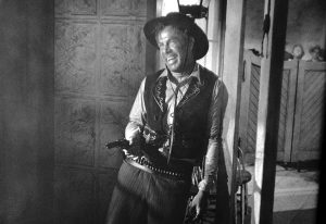 Lee Marvin as the bully Liberty Valance - selfish, self-centered, reckless, and deadly