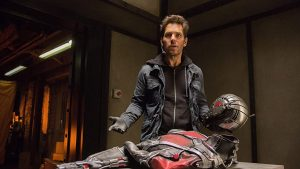 """Scott Lang """"finds"""" the Ant-Man costume"""