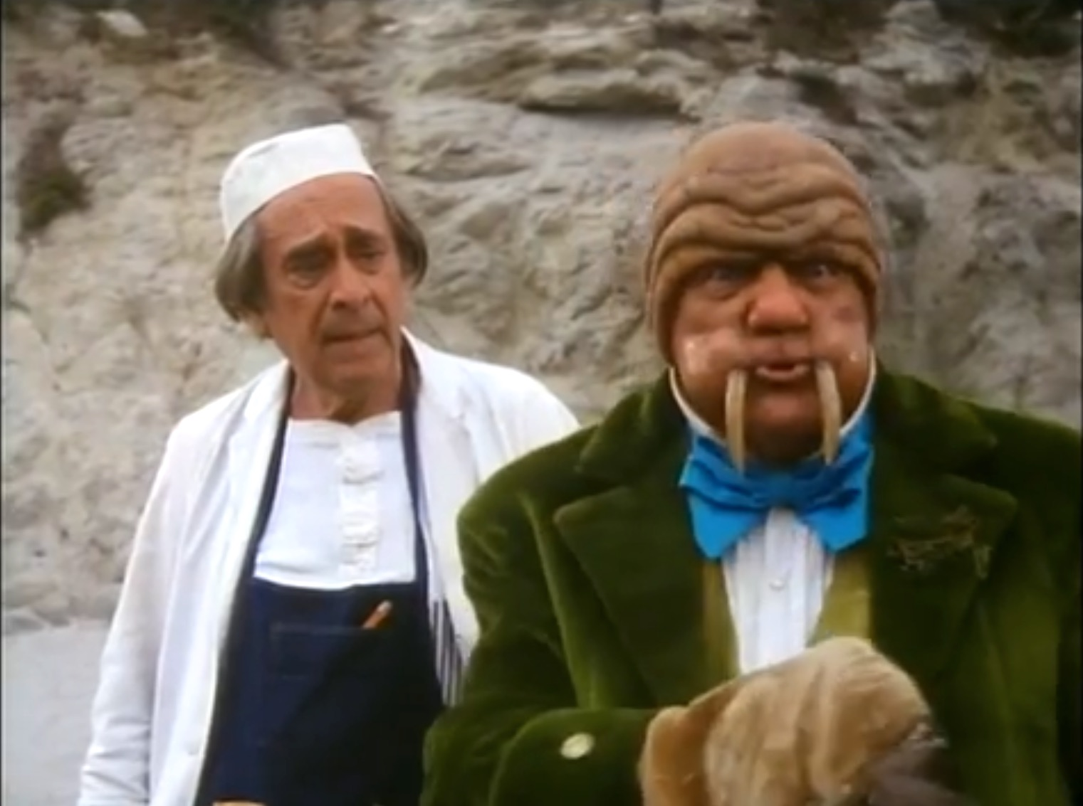 The Walrus and the Carpenter, Music by Steve Allen, Lyrics by Lewis Carroll, Performed by Steve Lawrence, Eydie Gormé,Karl Malden, Louis Nye, and the Oysters in Alice in Wonderland 1985