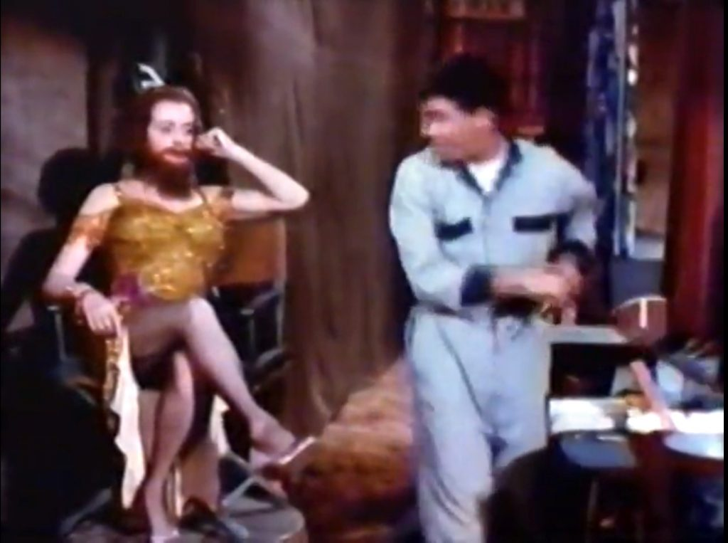 Bearded Lady (Elsa Lanchester) with Jerry Lewis (and shaving cream) in 3 Ring Circus