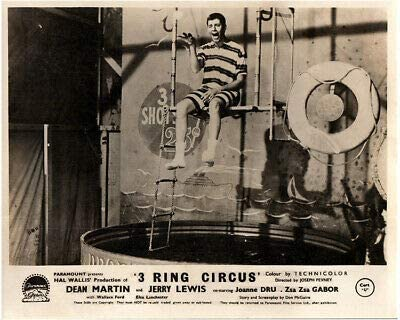Jerry Lewis in the dunk tank in 3 Ring Circus