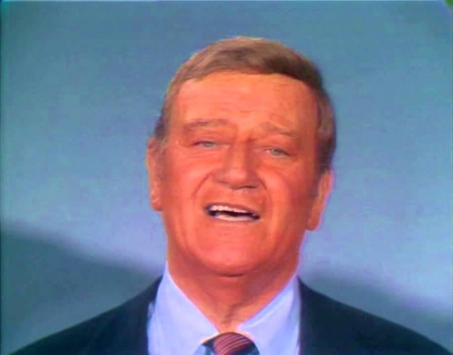 """John Wayne in """"Swing Out Sweet Land"""""""