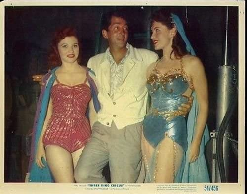 Two pretty girls with Dean Martin in 3 Ring Circus